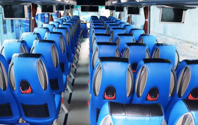 interior one bus sewa bus pariwisata murah