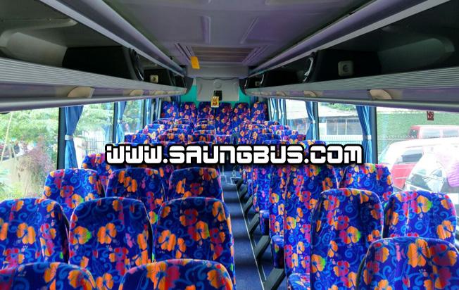 interior big bus pariwisata Saner holidays jakarta