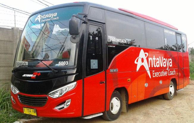 sewa bus pariwisata jakarta antavaya medium bus