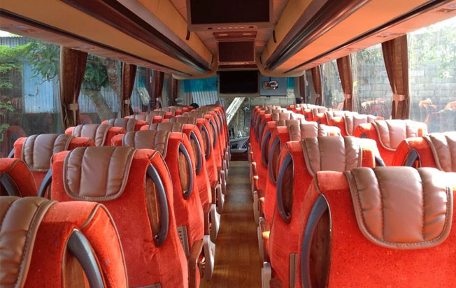 bus pariwisata andromeda interior big bus