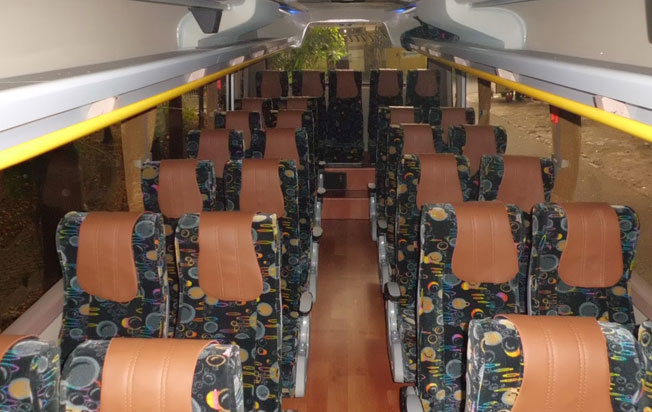 bus pariwisata andromeda interior medium bus