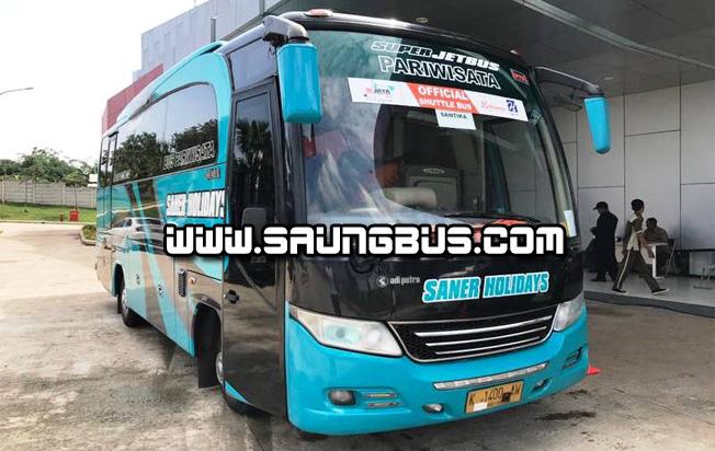 foto medium bus pariwisata medium saner holidays jakarta