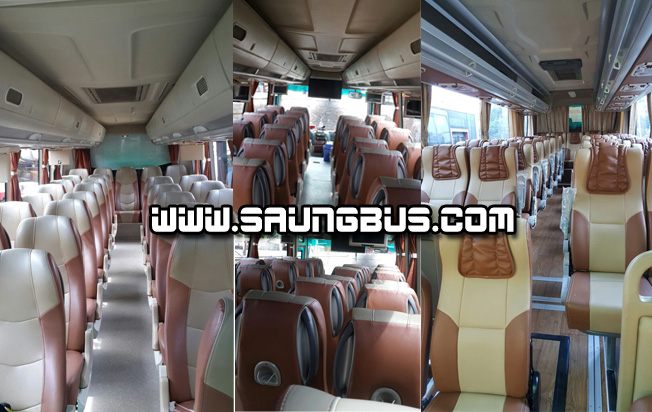 interior bus pariwisata medium Saner holidays jakarta
