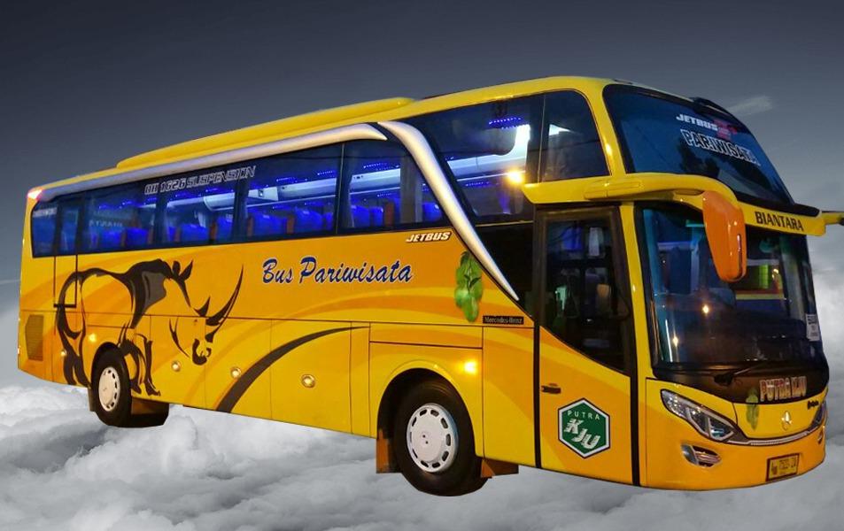 bus pariwisata Putra KJU Tangerang