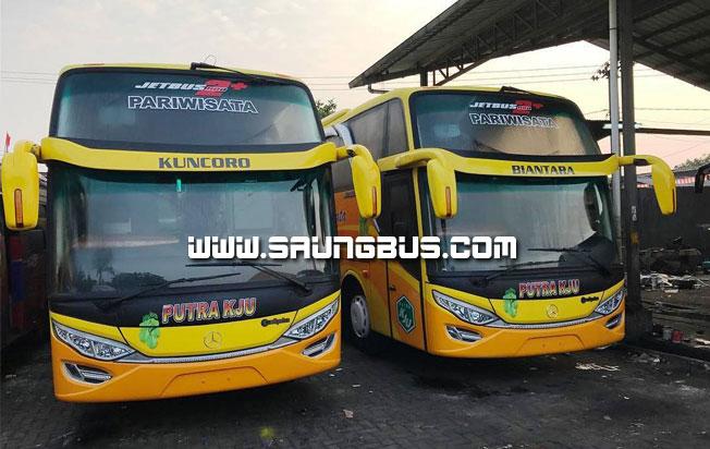 dua bus pariwisata putra KJU 59 seat saungbus.com jakarta